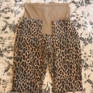 Vigoss Jeans - Leopard Print Maternity Skinny Jeans